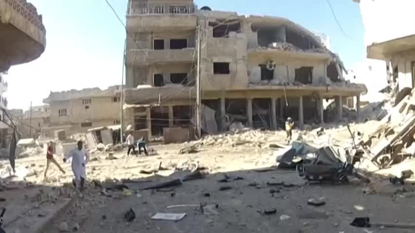 叙利亚集市10分钟内遭俄战机两次空袭致上百死伤