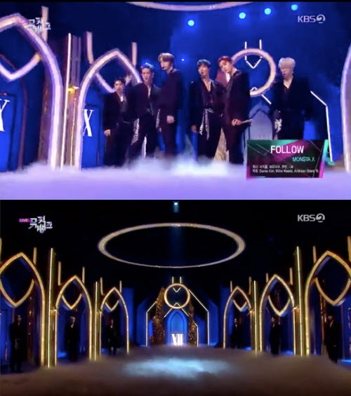 MONSTA X《MUSIC BANK》以6人体制回归舞台完美的表演