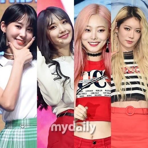 原PRISTIN银雨、珉炅、京元和艺彬11月将以5人女子组合再次出道