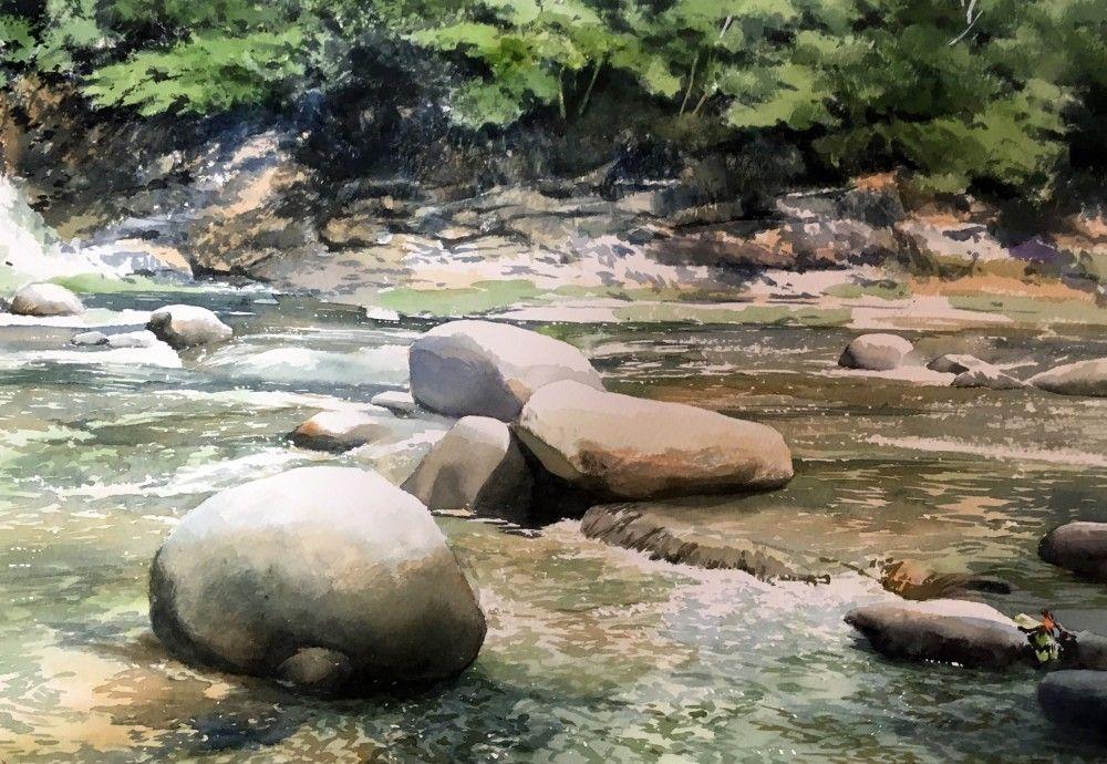 最新日本艺术_水彩画:日本艺术家abe toshiyuki风景画作品(下)