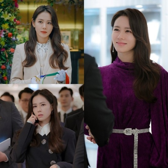 孙艺珍变身CEO公开人物照片 高雅华丽的时装