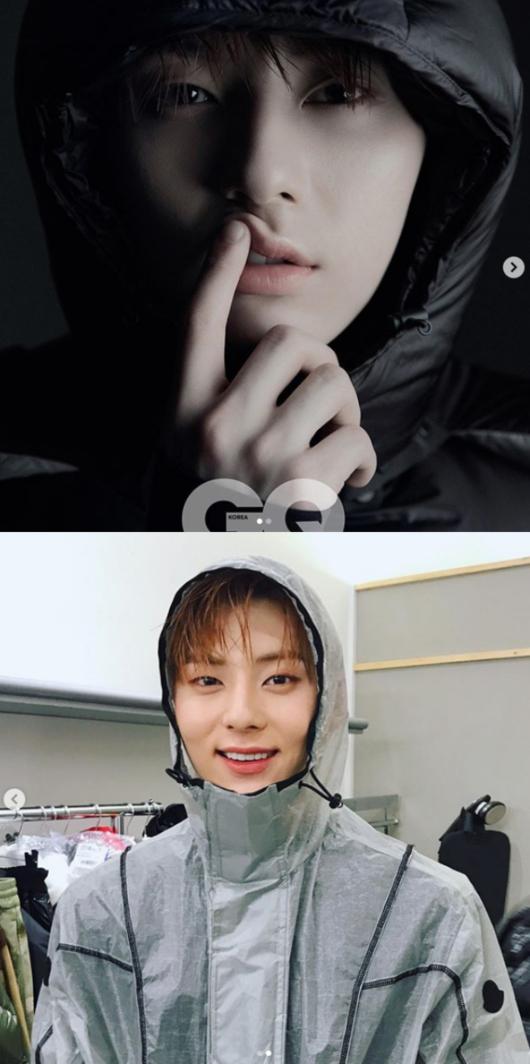 NU'EST黄旼炫戴着帽子的写真 帅气逼人