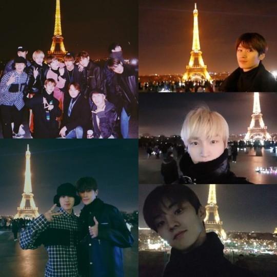 THE BOYZ欧洲巡回中在巴黎纪念照片 浪漫暖人心怀