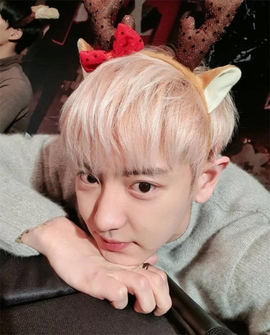 EXO朴灿烈提前发送圣诞快乐 郑敬淏也对他可爱的自拍赞不绝口