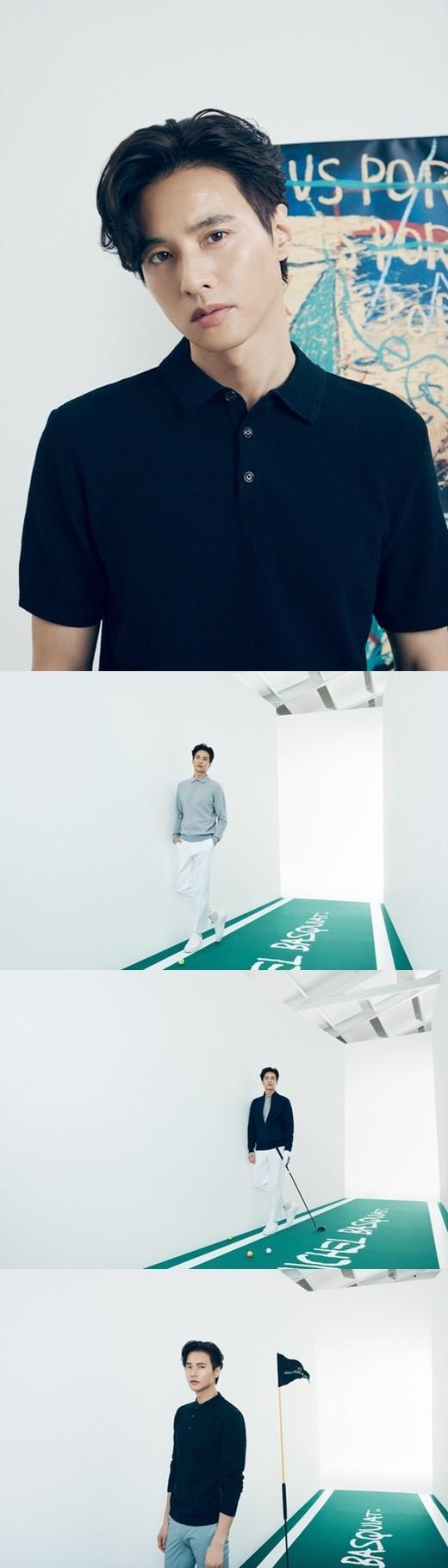 元斌公开身穿高尔夫服的写真 沉醉于一成不变的视觉效果