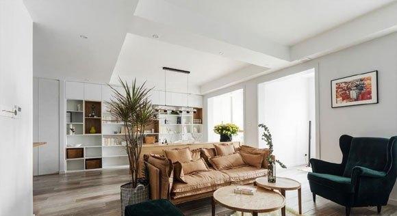 时尚的北欧风装修,大理石背景墙很大气,简洁的卧室特别温馨!