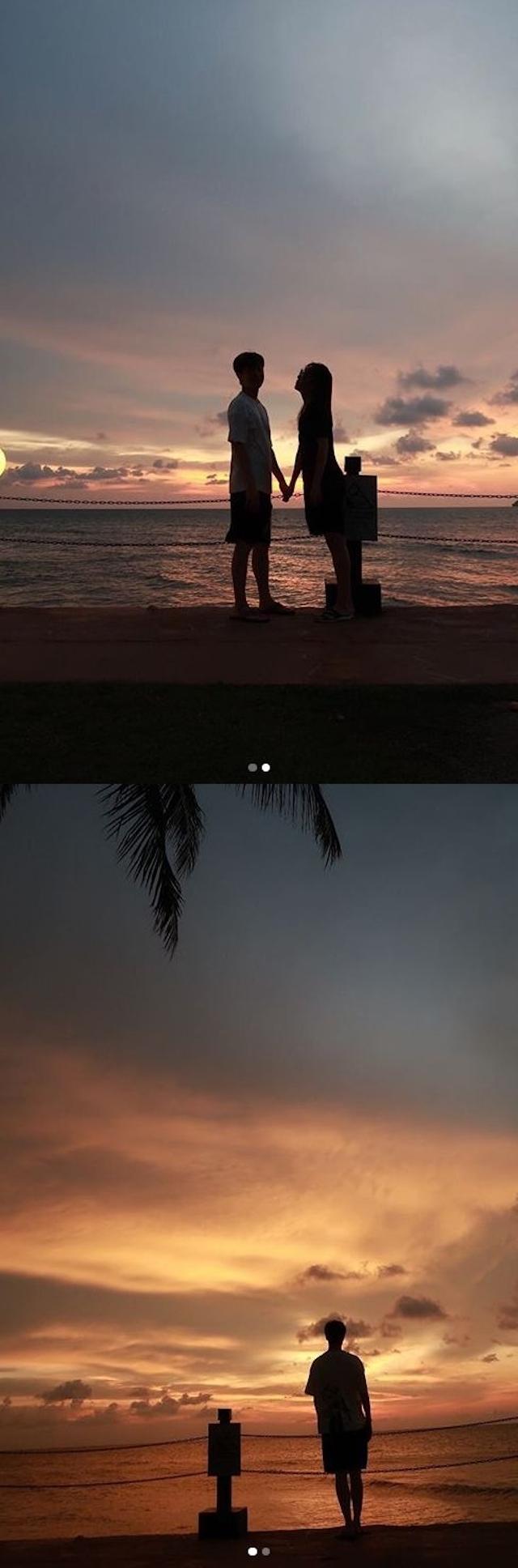 黄保罗简美妍夫妇在Instagram公开新婚旅行照片