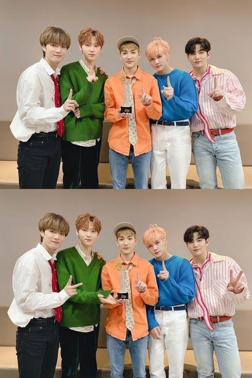 NU'EST达成音乐节目4冠王!《show音乐中心》中获得第一