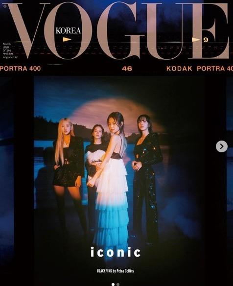 BLACKPINK登上了VOGUE杂志封面 四个美丽的少女