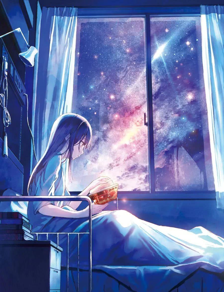 动漫壁纸丨我沐浴在大自然的怀抱中 让柔和的晚风轻抚着鬓角