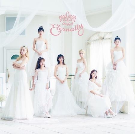 《OH MY GIRL》日本新曲《Eternally》连续两天占据音源排行榜首位
