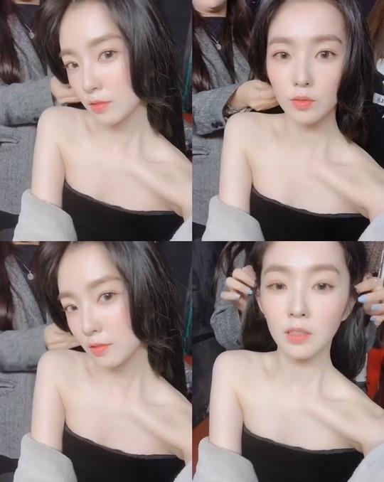 Red Velvet裴珠泫展现完美视觉效果美丽的锁骨