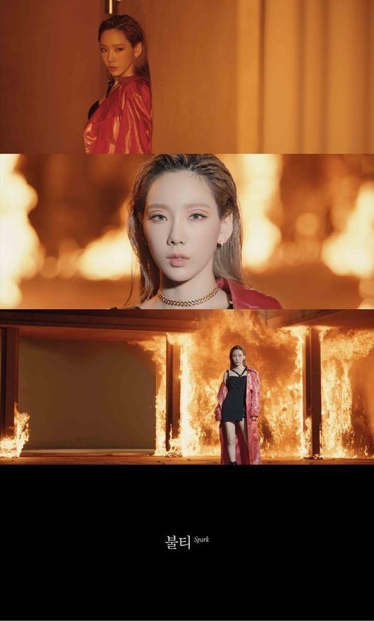 金泰妍《Spark》MV预告影像公开以燃烧的火焰为背景引人注目
