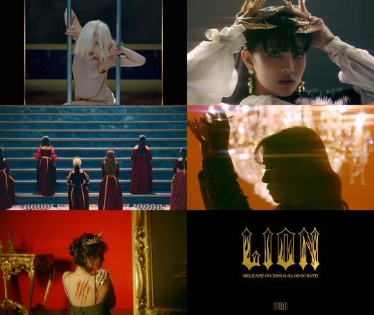 (G)I-DLE公开新曲《LION》MV预告影像 有震撼力的概念主题