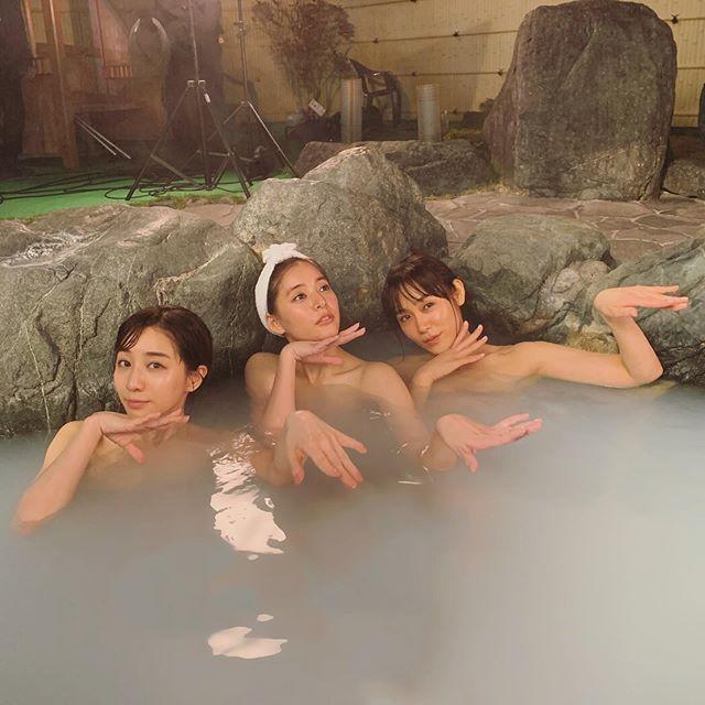 新木优子曝光和田中美奈实一起穿着温泉浴衣的照片