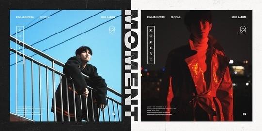 金在奂公开2nd迷你专辑《MOMENT》封面形象 白天和夜晚不同的魅力
