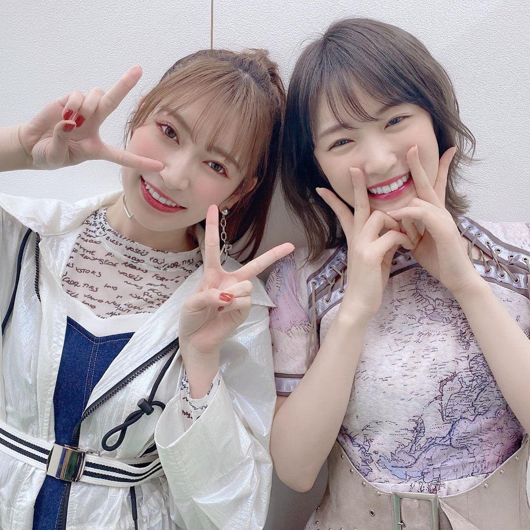 乃木坂46高山一实&NMB48吉田朱里的跨组合合照引粉丝热烈反响