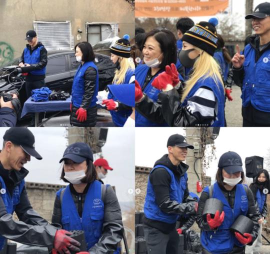 金淑与DARA&SEAN一起参加蜂窝煤志愿者活动 公开暖心现场