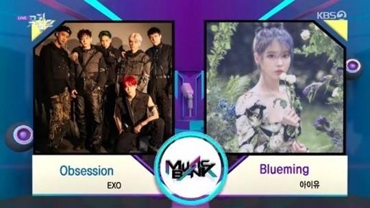EXO《音乐银行》中获得第1名的 表示真的很感谢粉丝们