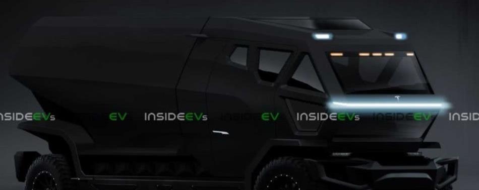 特斯拉<font color=red>卡车</font>最新渲染图 纯黑外观更具运动气息