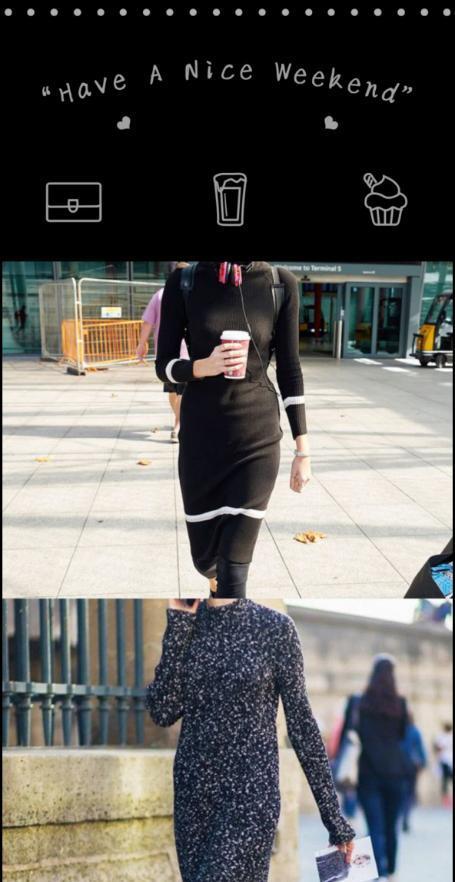 针织裙的换季魅力,单穿和内搭让你造型百变,出门吸引路人视线
