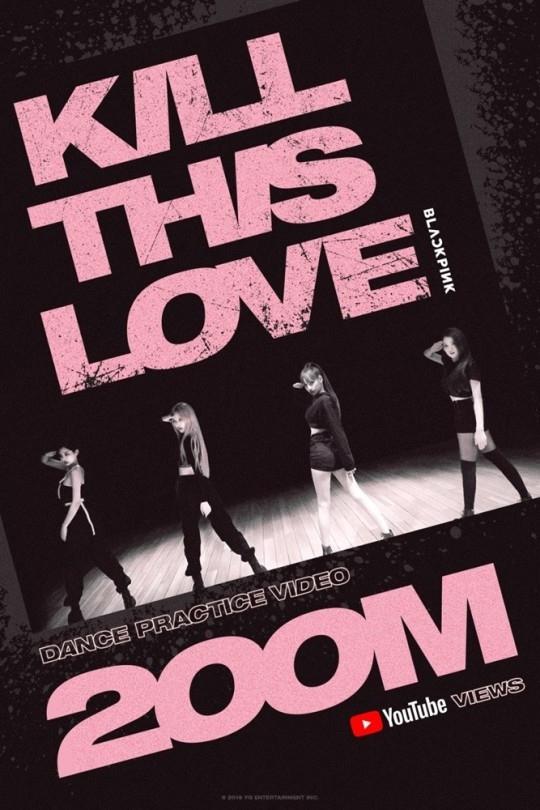 BLACKPINK《KILL THIS LOVE》舞蹈视频播放次数突破2亿次!停不下的人气