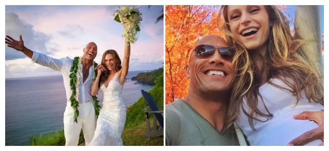 巨石强森宣布结婚喜讯,与长跑12年女友步入礼堂!喜晒绝美婚纱照