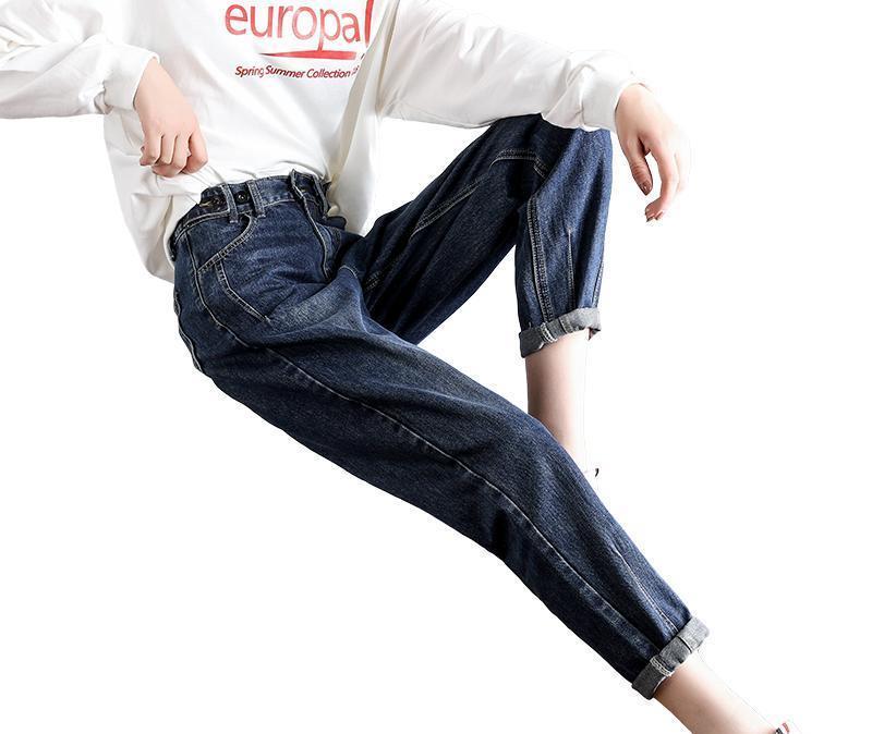春季容易闹衣慌,卫衣搭配老爹裤,简单搭配穿出潮流范