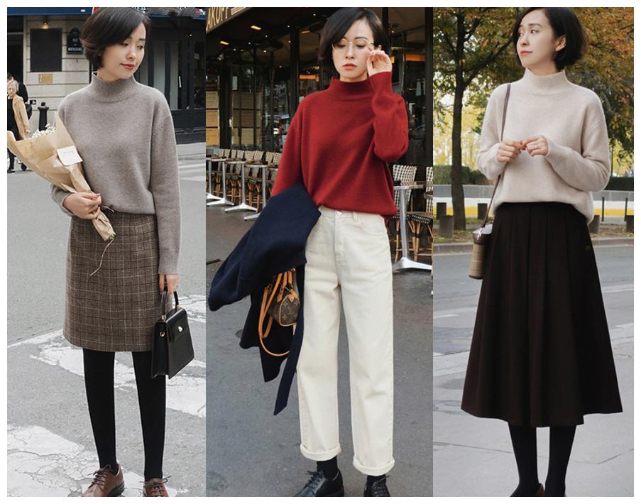 """有一種時尚,叫""""毛衣+半身裙/褲"""":減齡、優雅、盡顯女人味!"""