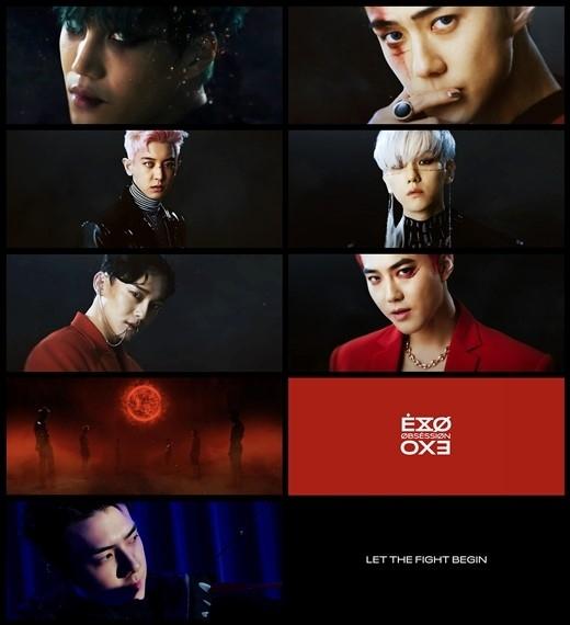 EXO第6张完整专辑《OBSESSION》中进一步扩展的世界观 关注新鲜的宣传