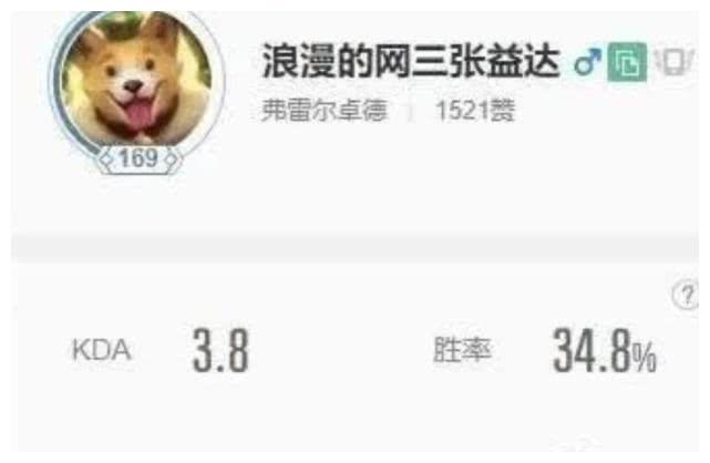 张伟自曝LOL游戏ID,网友集体狙击,胜率掉到34%选择退游
