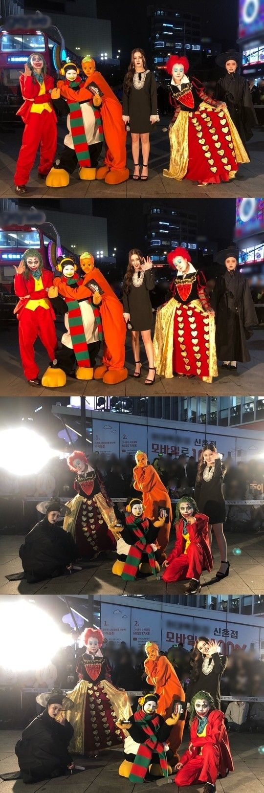 MOMOLAND万圣节惊喜 路上开演唱会500多名粉丝欢呼