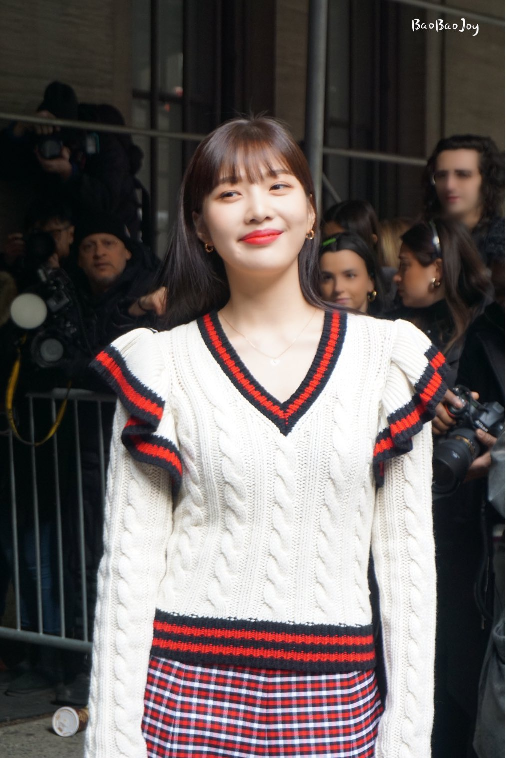 Red Velvet的朴秀荣终于与Michael Kors一同亮相时装周