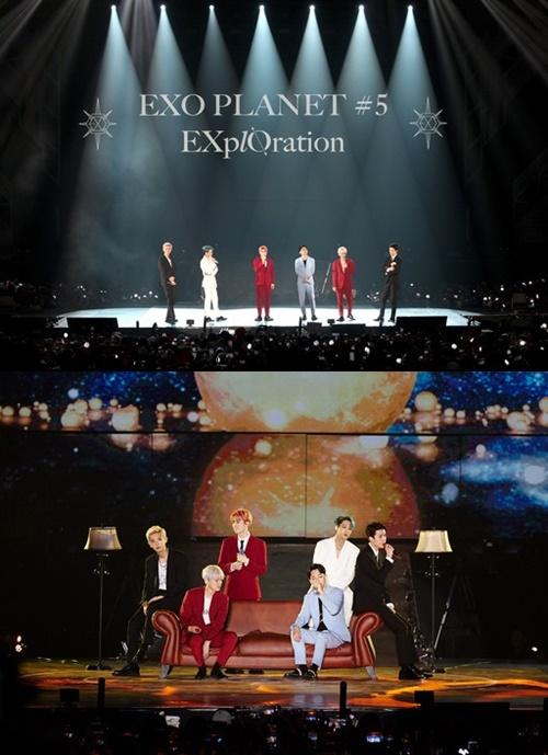 EXO雅加达演唱会盛况结束 1万2000名观众为之疯狂