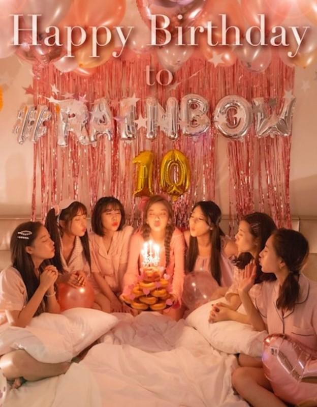 RAINBOW与粉丝一起庆祝出道10周年 11月14日发表纪念单曲《OVER THE RAINBOW》