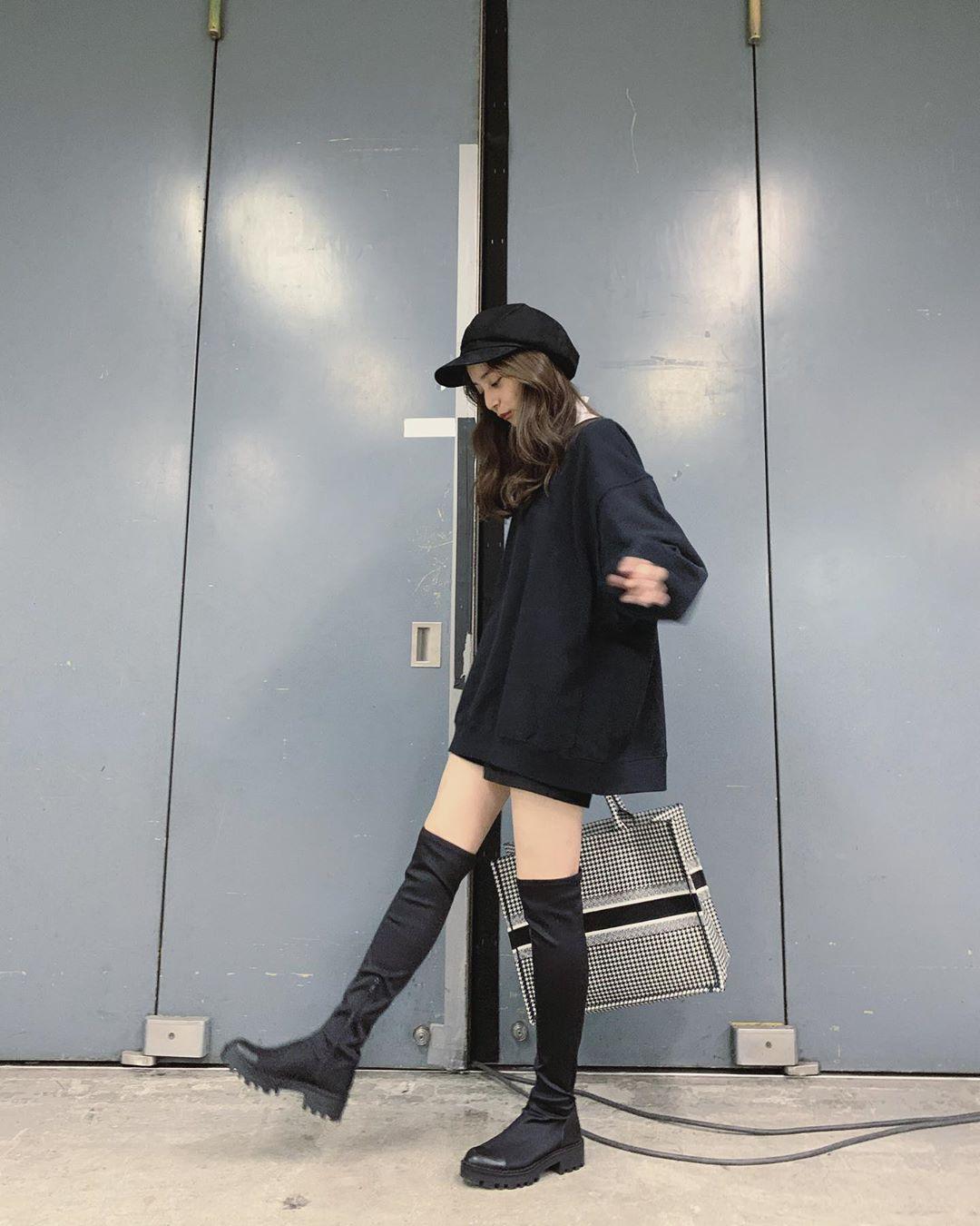新木优子的长筒靴美腿粉丝们赞不绝口