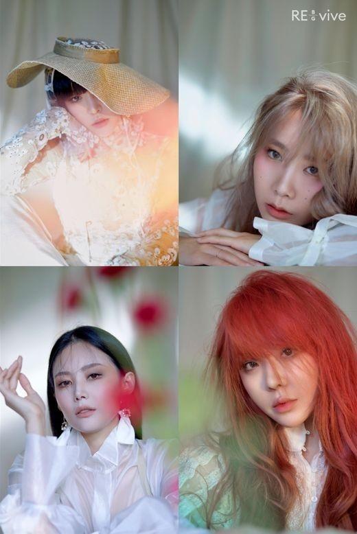Brown Eyed Girls公开新专辑《re_vive》的单人照片四个人四种颜色的魅力