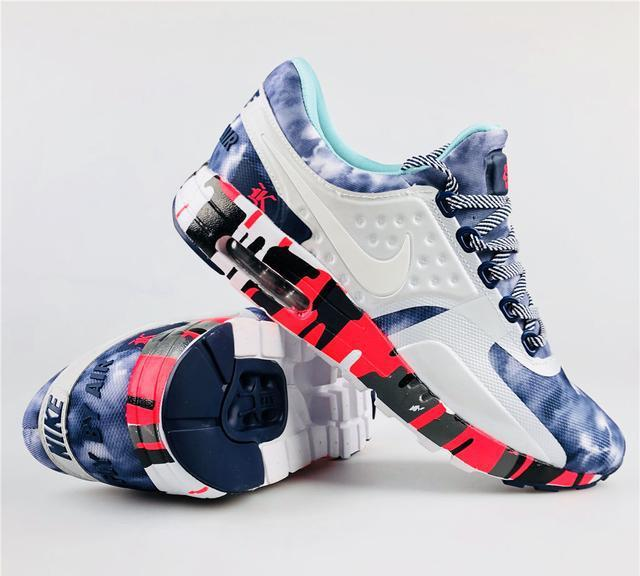 buy popular 2d537 f5dc6 耐克NIKE Air Max Zero WJK 王俊凯联名设计泼墨跑鞋