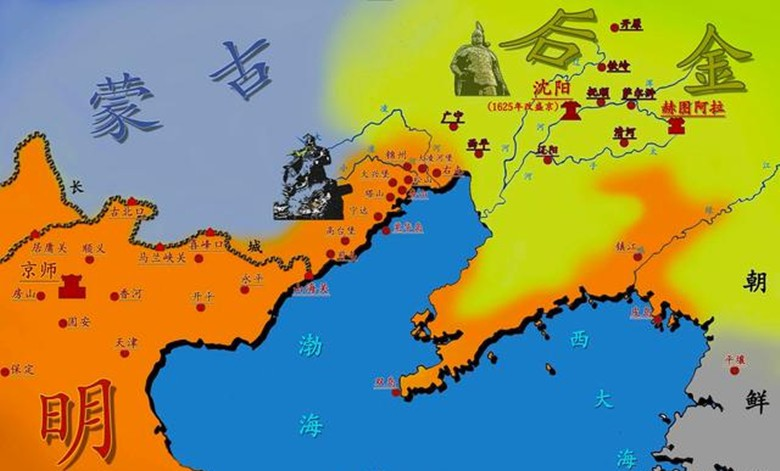 至此,明朝關外主力盡喪,山海關以北的遼西走廊地帶門戶洞開,也為后來圖片