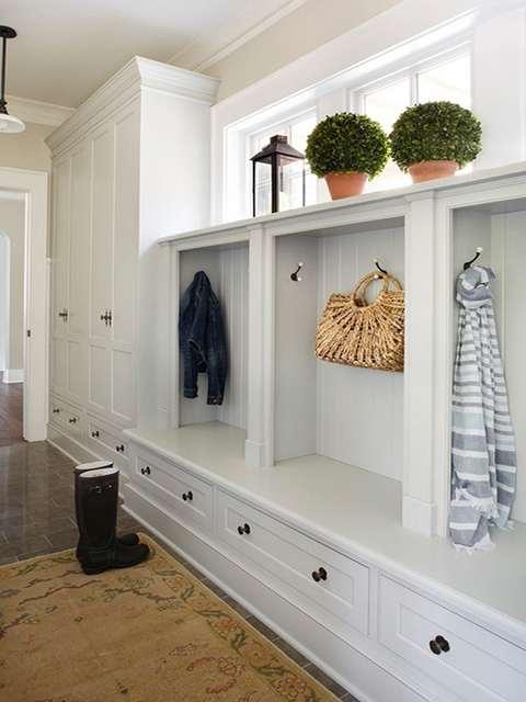玄关鞋柜的装修效果图,入户玄关柜案例展示!