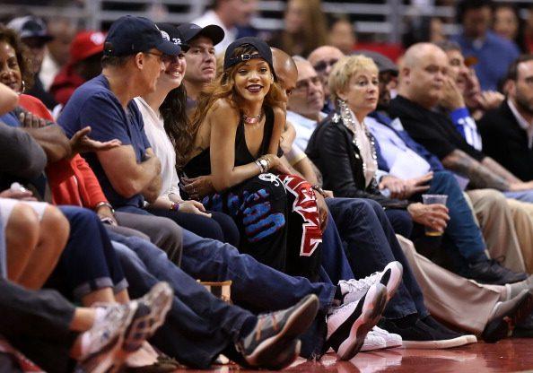 蕾哈娜可以說是詹姆斯的頭號粉絲!圖片