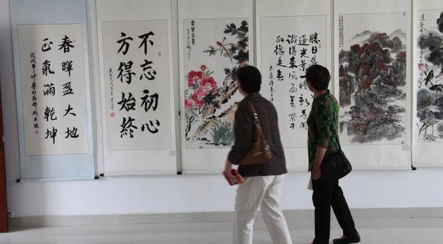 """文化搭桥,共享养老,""""公益书画中国行""""潍坊站开幕"""
