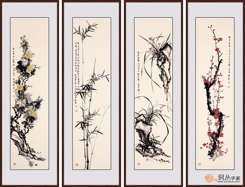 适合客厅挂的字画,唯有石荣禄花鸟画最具文化气息