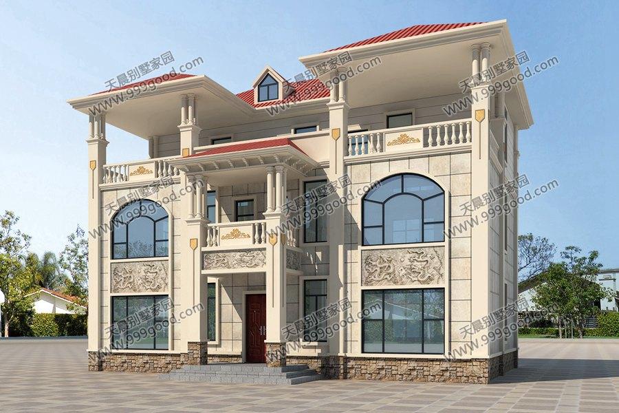 大胆创别墅才会大栋_一栋两户的另类双拼别墅,14.4x8.3米农村住宅!经济省钱好生活