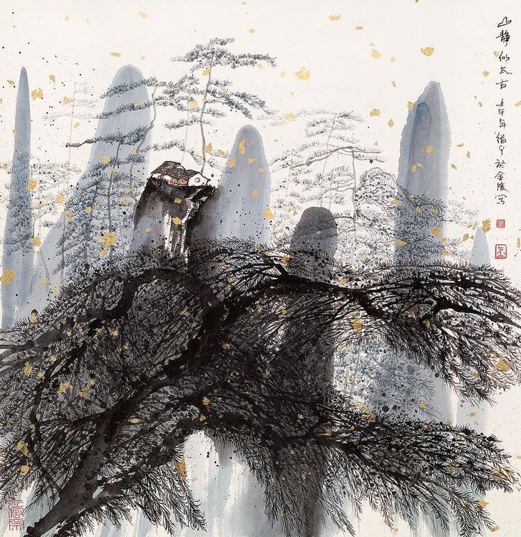 中国意象画_清逸幽遂,静雅柔美:朱道平山水画的意象境界
