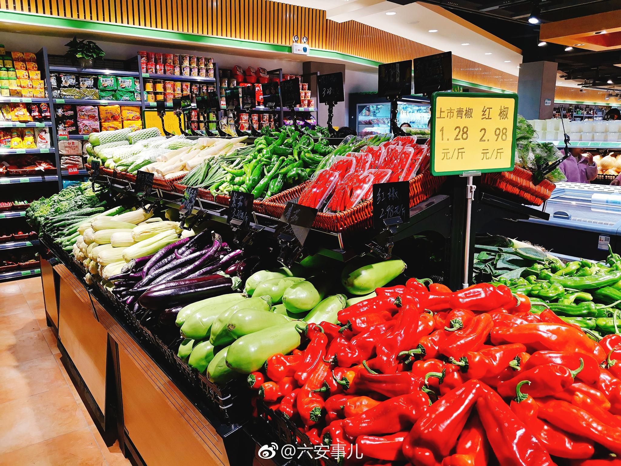 六安某大型連鎖生鮮超市壽春店今日開業啦