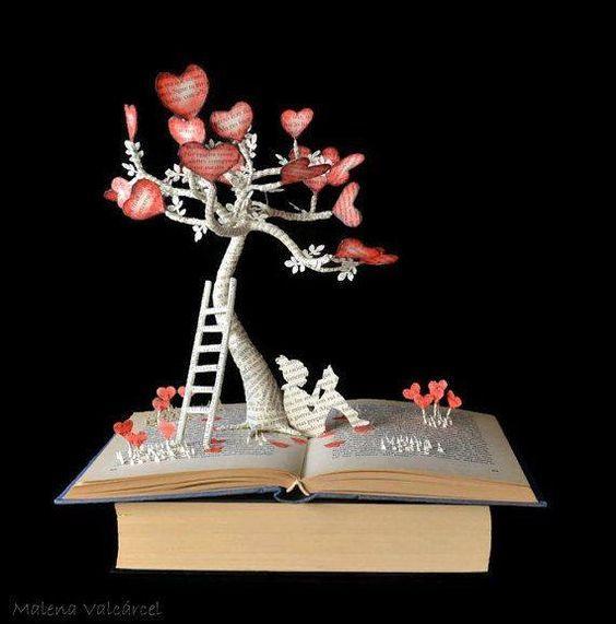 ��ce͎L_翻开书,就可以进入的童话世界艺术家 malena valcarcel 书本上的艺术