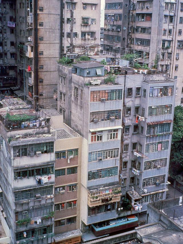 香港旧影1979年,九龙半岛土瓜湾住宅区