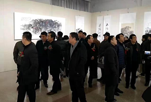 """""""问道青山―赵学伦书画展""""在北京民族文化宫开幕"""