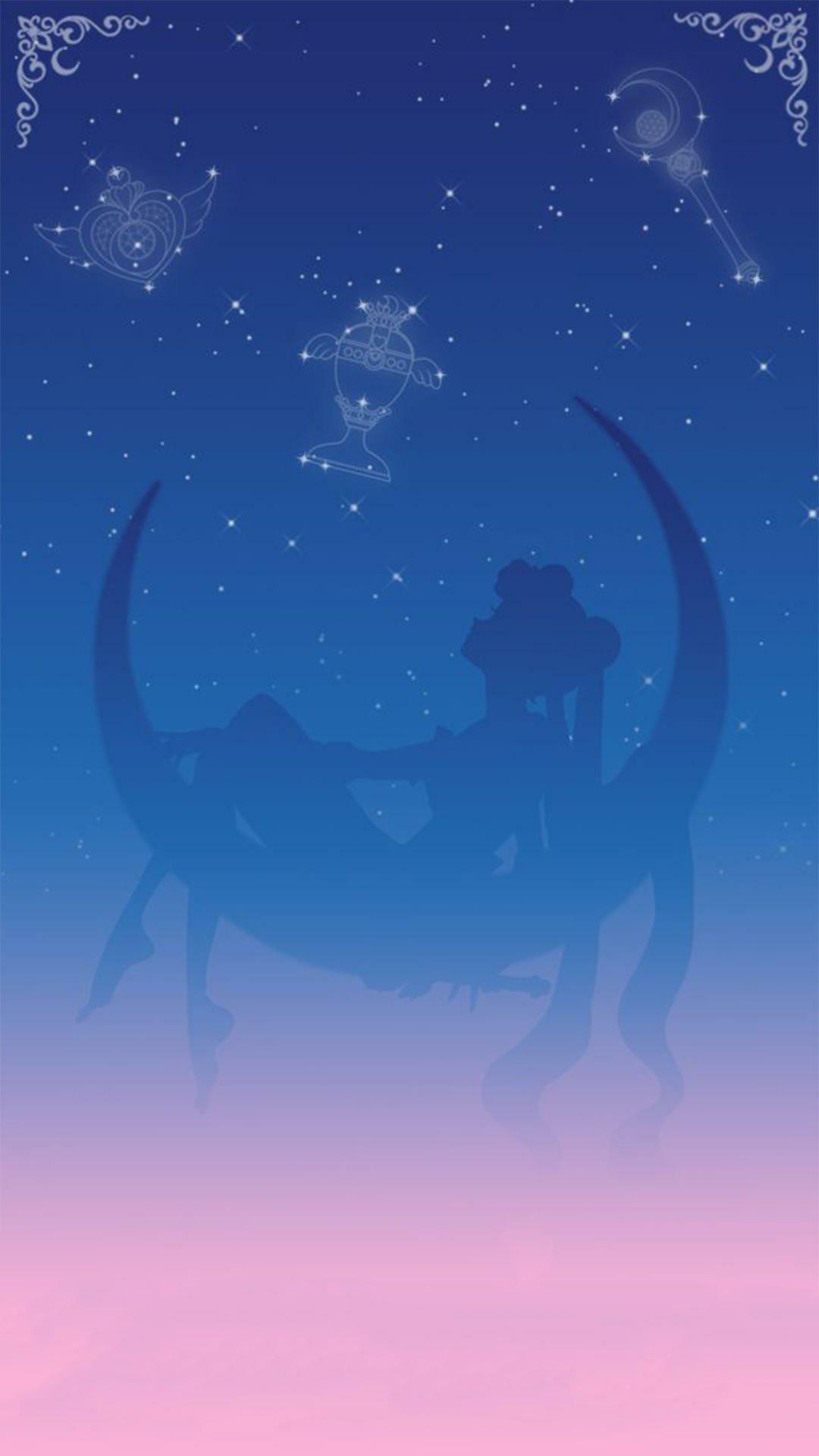 美少女战士 星空魔幻动漫卡通无水印手机壁纸